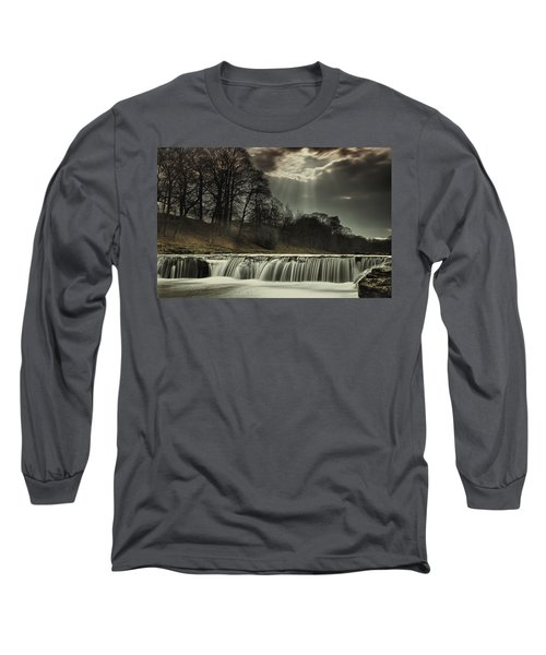 Aysgarth Falls Yorkshire England Long Sleeve T-Shirt