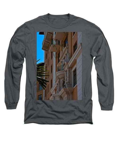 Long Sleeve T-Shirt featuring the photograph Balcony At The Biltmore Hotel by Ed Gleichman