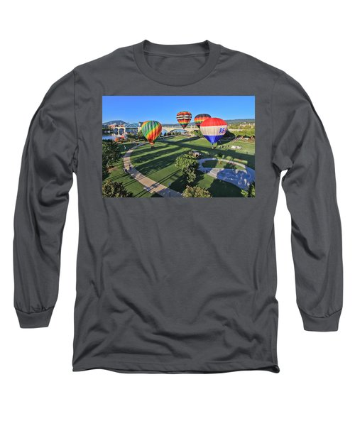 Balloons In Coolidge Park Long Sleeve T-Shirt