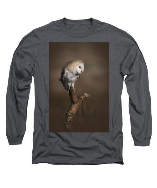 Barn Owl On The Lookout Long Sleeve T-Shirt
