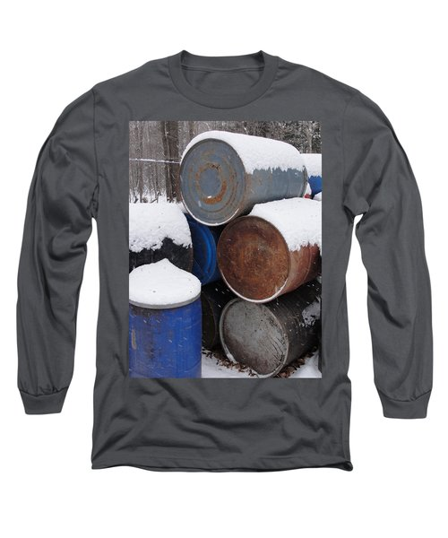 Long Sleeve T-Shirt featuring the photograph Barrel Of Food by Tiffany Erdman