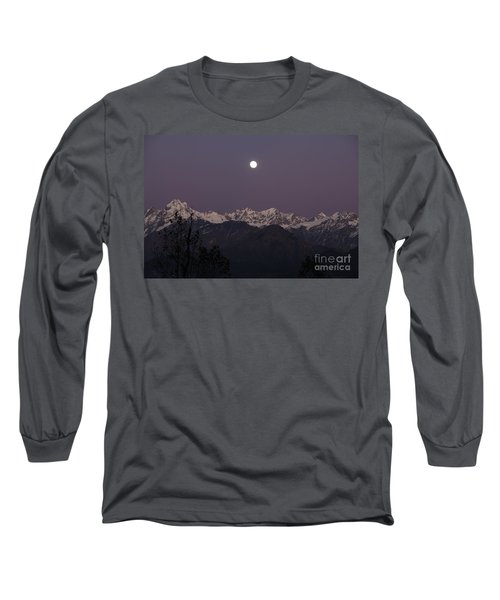 Long Sleeve T-Shirt featuring the photograph Bathed In Moonlight by Fotosas Photography