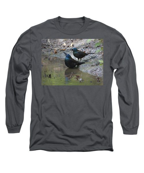 Long Sleeve T-Shirt featuring the photograph Bathing Partners by Sarah McKoy