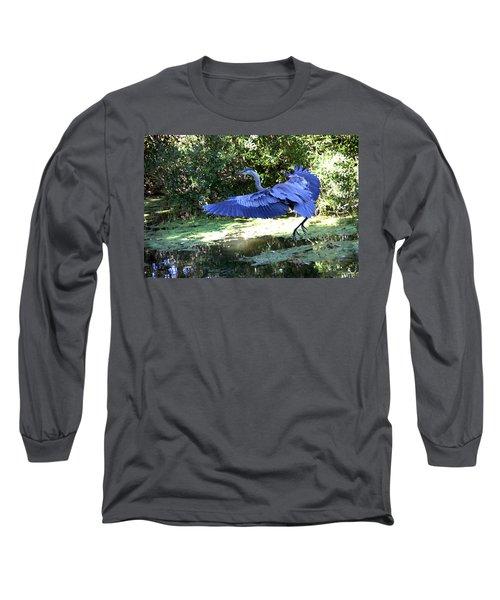 Big Blue In Flight Long Sleeve T-Shirt