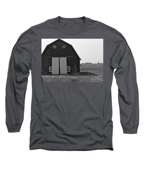 Big Tooth Barn Black And White Long Sleeve T-Shirt