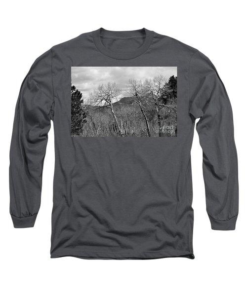 Black And White Aspen Long Sleeve T-Shirt
