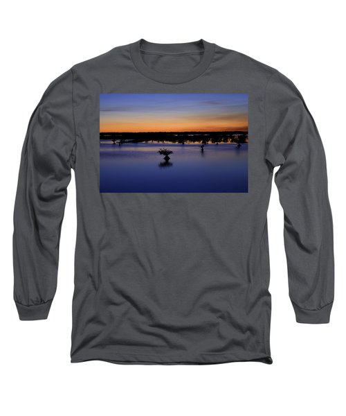 Blue Sunset Mangroves Long Sleeve T-Shirt by Rich Franco