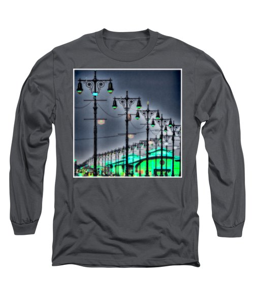 Long Sleeve T-Shirt featuring the photograph Boardwalk Lights by Chris Lord