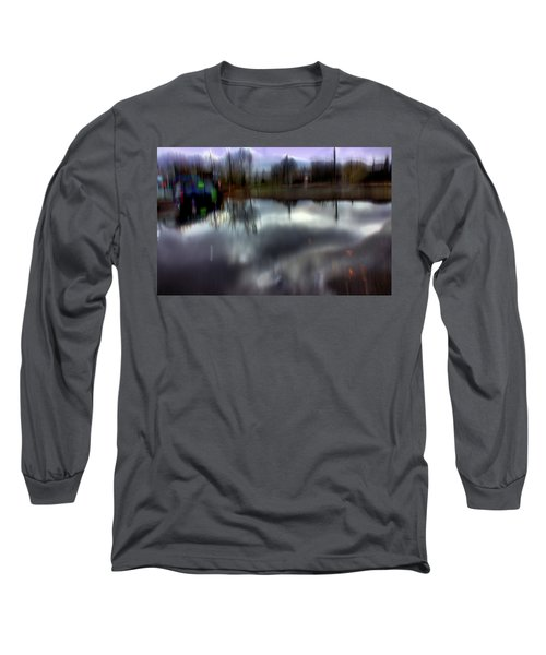 Long Sleeve T-Shirt featuring the mixed media Boat House I by Terence Morrissey
