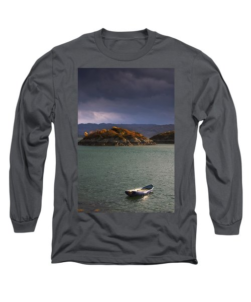 Boat On Loch Sunart, Scotland Long Sleeve T-Shirt