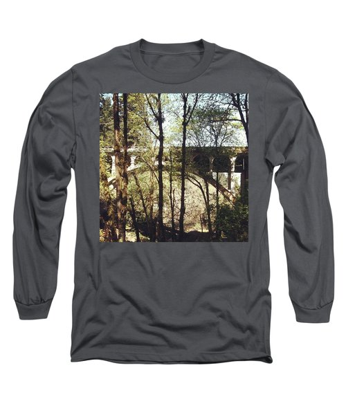 Bridge Over Lake Oswego Creek Long Sleeve T-Shirt