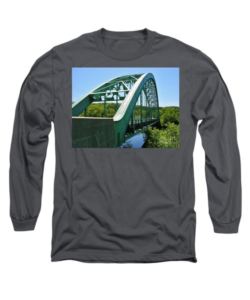 Long Sleeve T-Shirt featuring the photograph Bridge Spanning Connecticut River by Sherman Perry