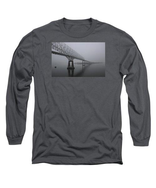 Bridge To Nowhere Long Sleeve T-Shirt by Shelley Neff