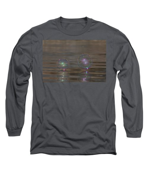 Bubble Iridescence Long Sleeve T-Shirt by Cathie Douglas