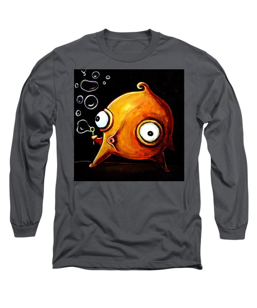 Long Sleeve T-Shirt featuring the painting Bubbles Glob by Leanne Wilkes