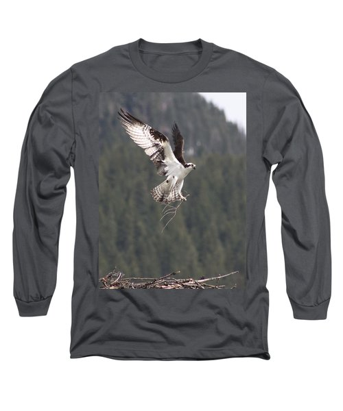Building Supplies Long Sleeve T-Shirt by Cathie Douglas