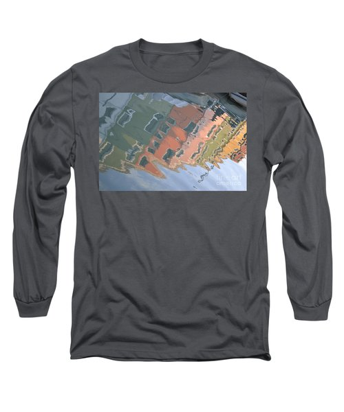 Long Sleeve T-Shirt featuring the photograph Burano House Reflections by Rebecca Margraf