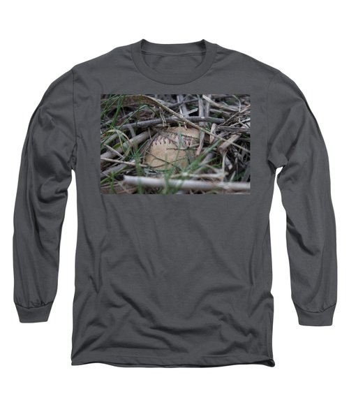Long Sleeve T-Shirt featuring the photograph Buried Baseball by Stephanie Nuttall