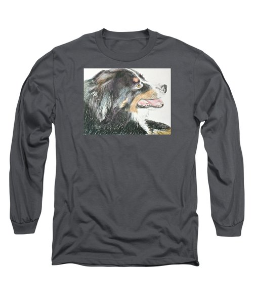 Buttercup The Wonderdog Long Sleeve T-Shirt by Beth Saffer