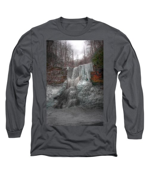 Cascades In Winter 3 Long Sleeve T-Shirt