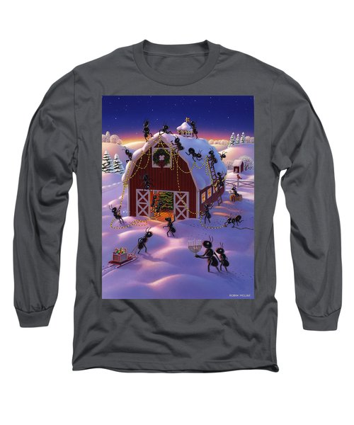 Christmas Decorator Ants Long Sleeve T-Shirt