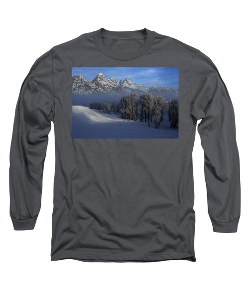 Christmas Morning Grand Teton National Park Long Sleeve T-Shirt