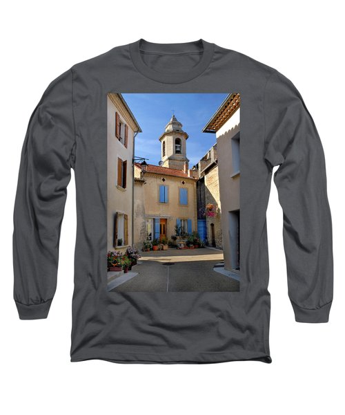 Long Sleeve T-Shirt featuring the photograph Church Steeple In Provence by Dave Mills