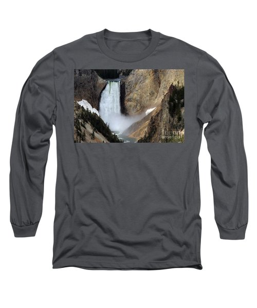 Close Up Of Lower Falls Long Sleeve T-Shirt by Living Color Photography Lorraine Lynch