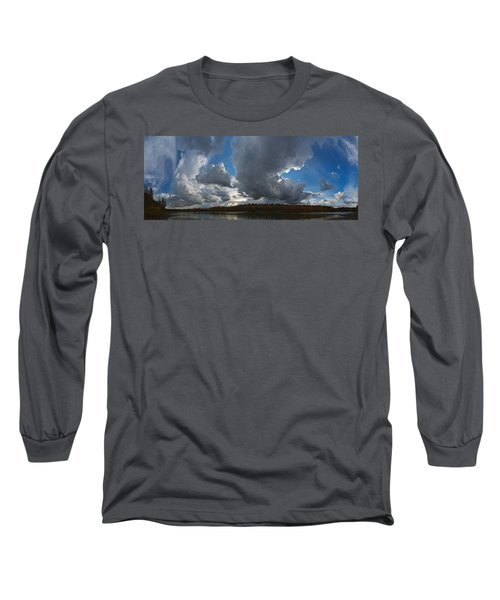Clouds And River Edmonton Long Sleeve T-Shirt