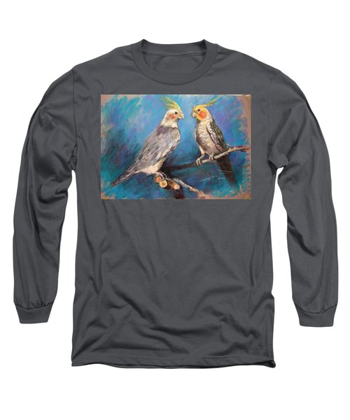 Coctaiel Parrots Long Sleeve T-Shirt by Ylli Haruni