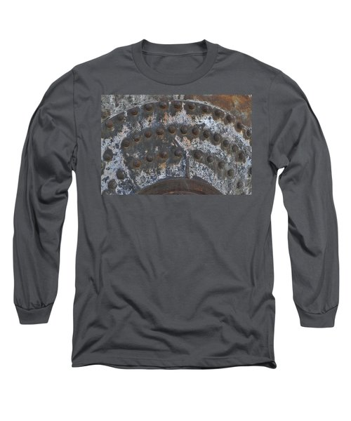 Long Sleeve T-Shirt featuring the photograph Color Of Steel 7a by Fran Riley
