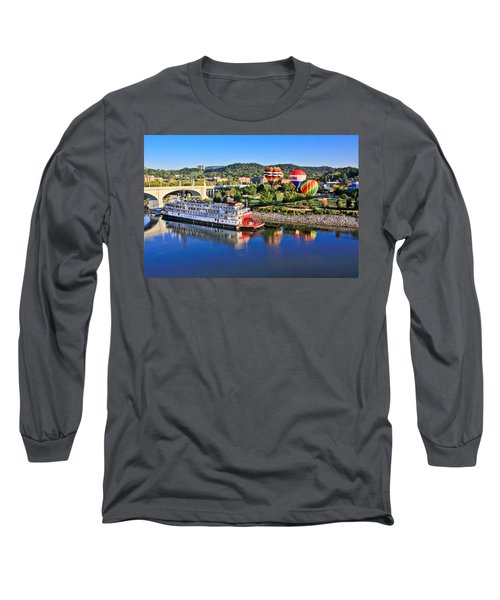 Coolidge Park During River Rocks Long Sleeve T-Shirt