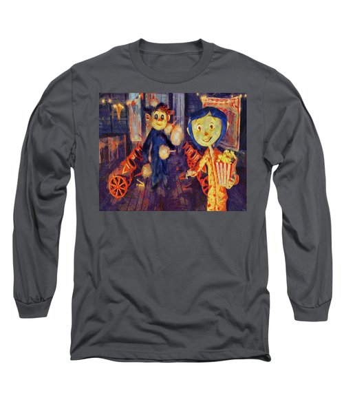 Long Sleeve T-Shirt featuring the painting Coraline Circus by Joe Misrasi
