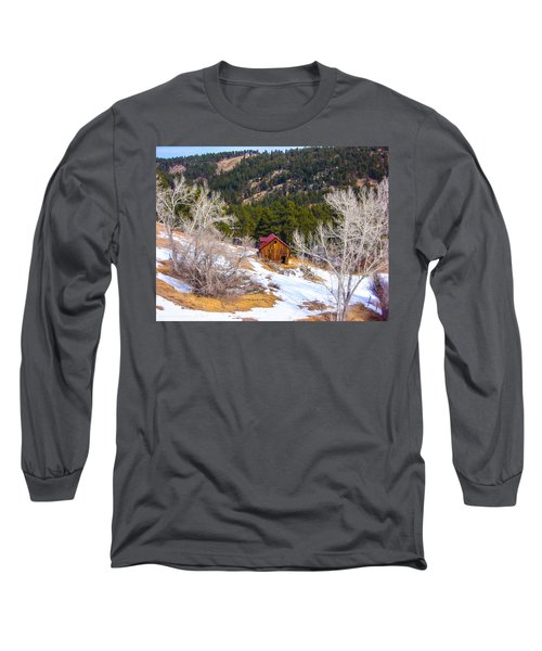 Long Sleeve T-Shirt featuring the photograph Country Barn by Shannon Harrington