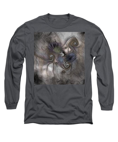 Long Sleeve T-Shirt featuring the digital art Creatively Calcified by Casey Kotas