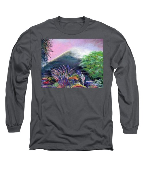 Long Sleeve T-Shirt featuring the painting Croagh Patrick by Alys Caviness-Gober