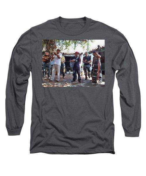 Long Sleeve T-Shirt featuring the photograph Cuban Musicians by Lynn Bolt