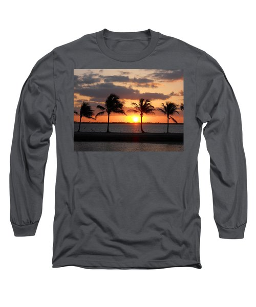 Long Sleeve T-Shirt featuring the photograph Cudjoe Sunrise by Clara Sue Beym