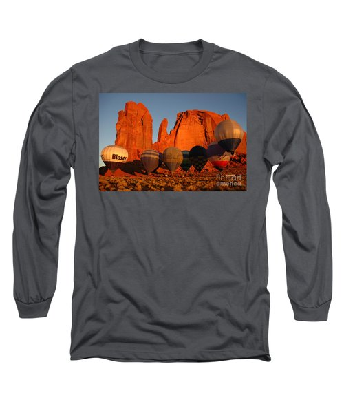 Long Sleeve T-Shirt featuring the photograph Dawn Flight In Monument Valley by Vivian Christopher