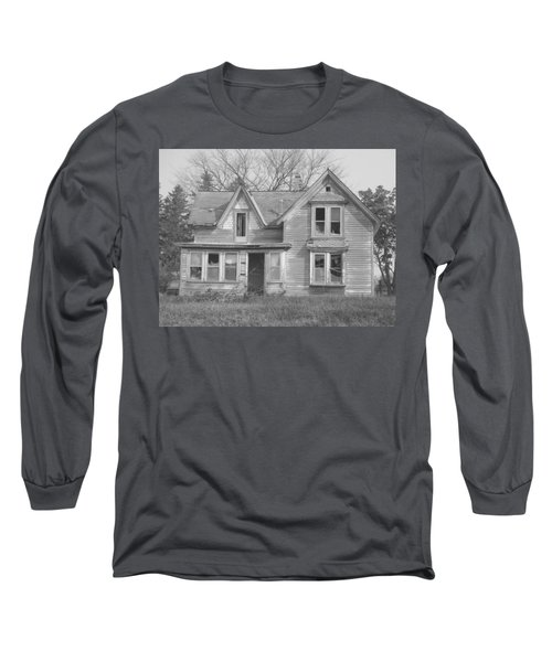 Long Sleeve T-Shirt featuring the photograph Defiance B/w by Bonfire Photography