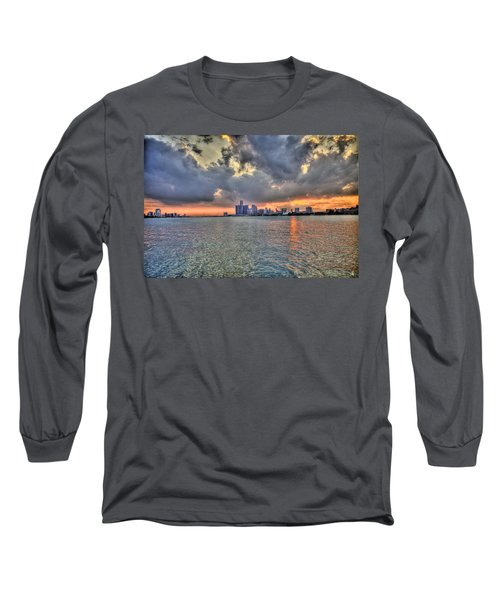 Detroit Sunset  Long Sleeve T-Shirt
