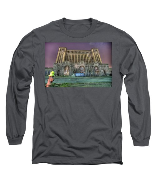 Detroit's Michigan Central Station - Michigan Central Depot Long Sleeve T-Shirt