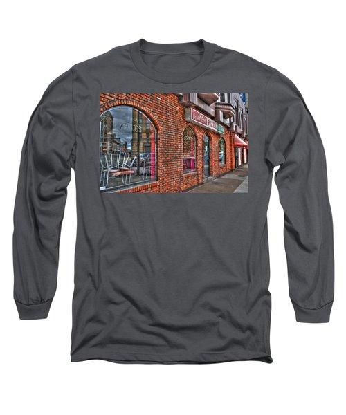 Long Sleeve T-Shirt featuring the photograph Dough Bois Pizza by Michael Frank Jr
