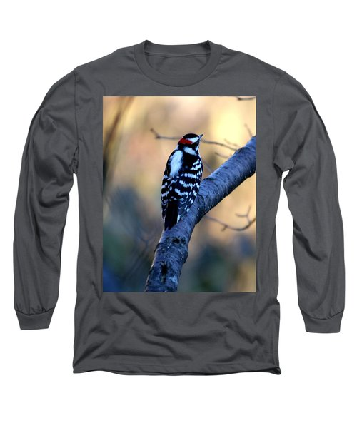 Long Sleeve T-Shirt featuring the photograph Downy Woodpecker by Elizabeth Winter