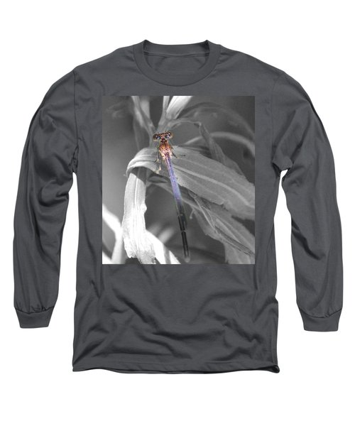 Dragonfly Bw With Color Long Sleeve T-Shirt