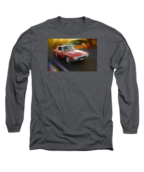 Early 60s Red Thunderbird Long Sleeve T-Shirt by Mick Anderson
