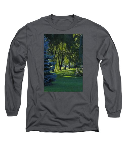 Early Morning Long Sleeve T-Shirt by John Stuart Webbstock