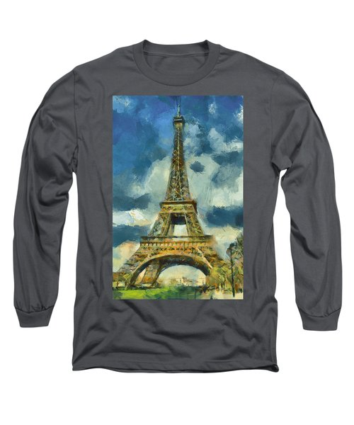 Eiffel Tower In Spring Long Sleeve T-Shirt