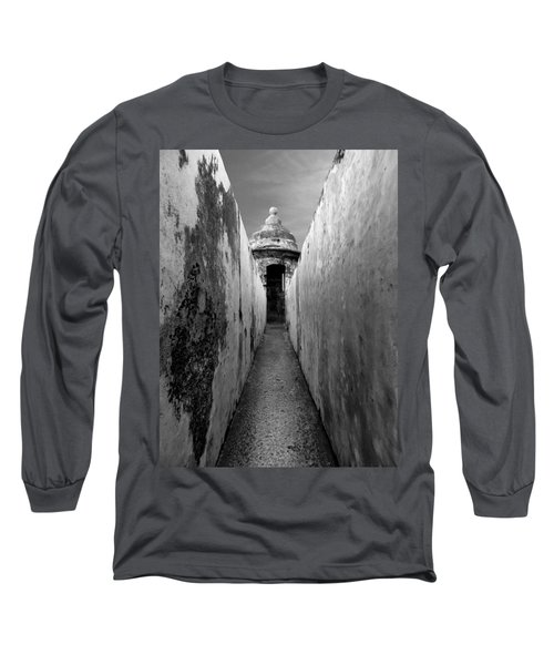El Morro In Black And White Long Sleeve T-Shirt