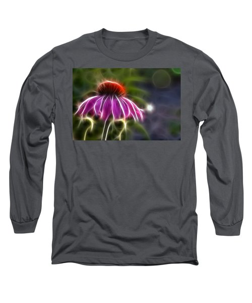 Electrified Coneflower Long Sleeve T-Shirt by Lynne Jenkins